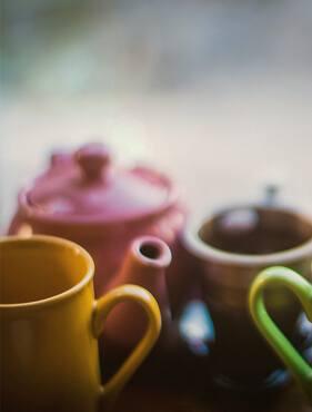 Eine Kaffeekanne