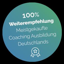 Ein Störer der darauf hinweist, dass die Ausbildung die meistgekaufte Business Coaching Ausbilding Deutschlands ist.